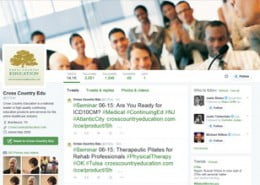 how to use twitter to promote events and seminars - CCEDU twitter screenshot