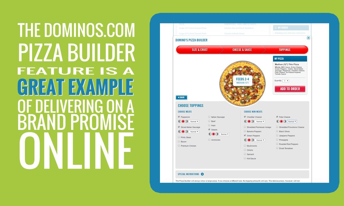 a great example of web optimization: dominos.com