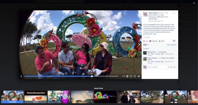 Facebook Live @ Chinese Lantern Festival
